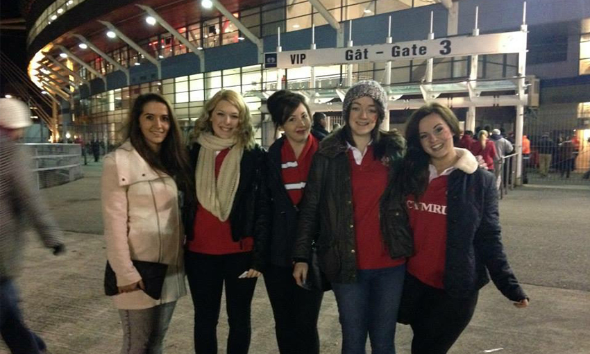 girls at the Millennium Stadium