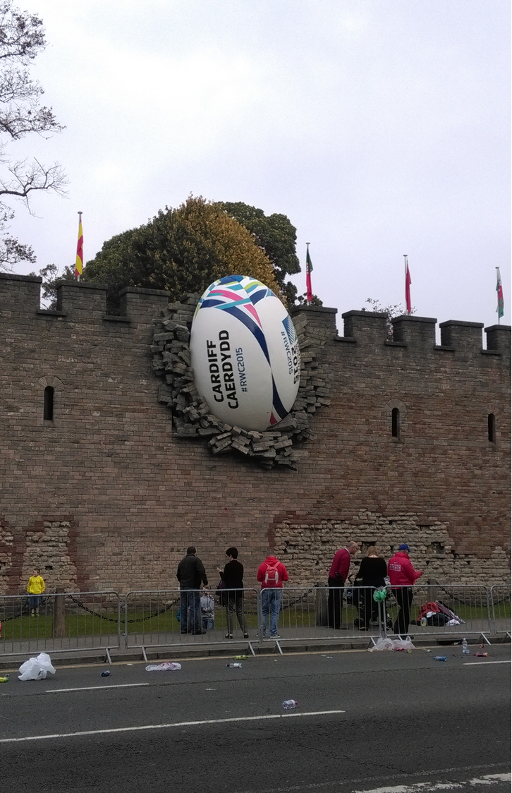 The World Cup Rugby Ball in the Wall