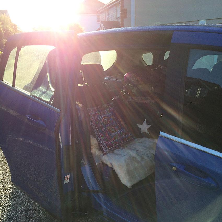 family car loaded up