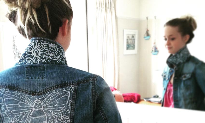 Jenny and upcycled jacket