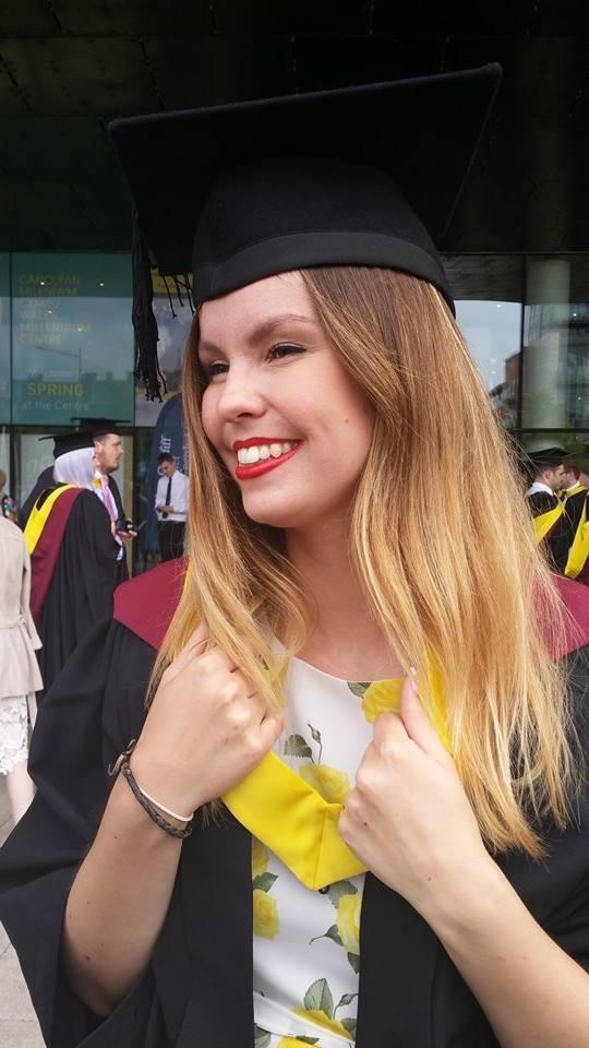 Sarah graduating