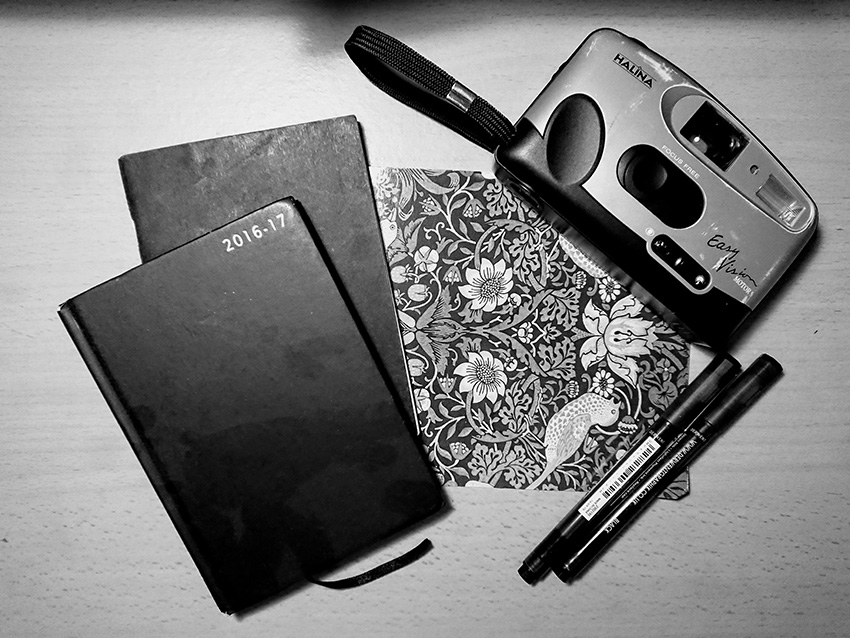 Notepads and diary