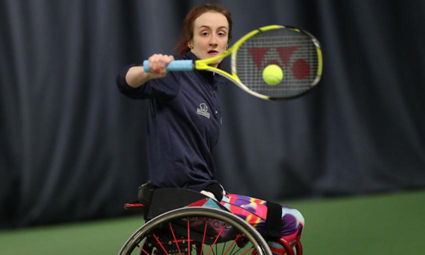 Fran playing tennis