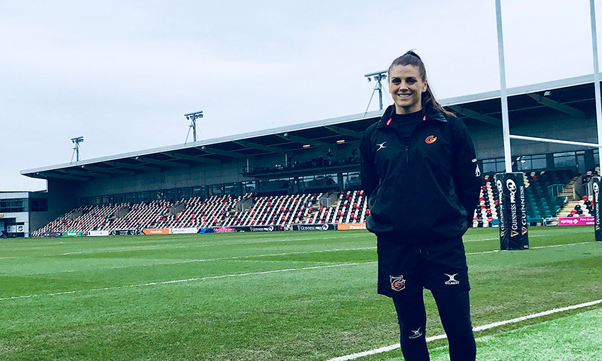 Mollie Martin on the pitch