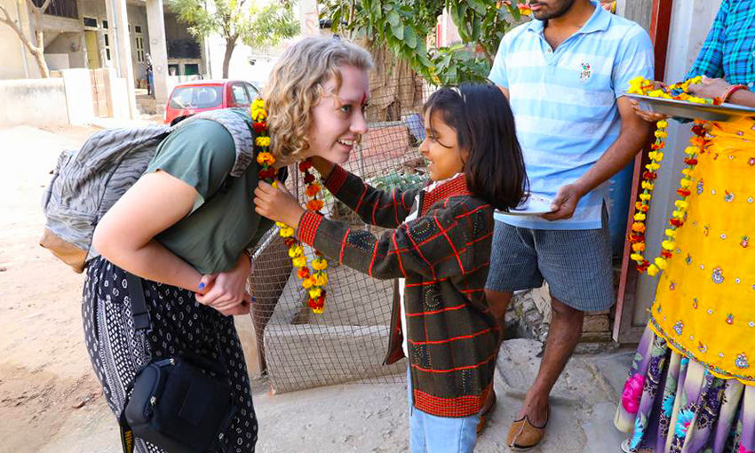 Lille being welcomed in Rajasthan