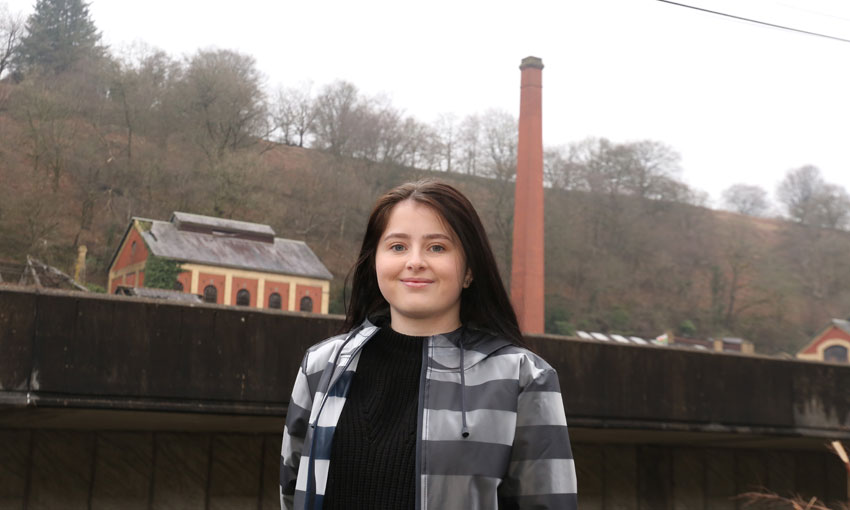 Millie at the colliery