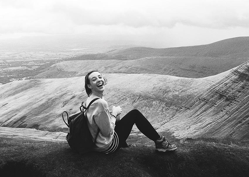 Caitlin on mountain