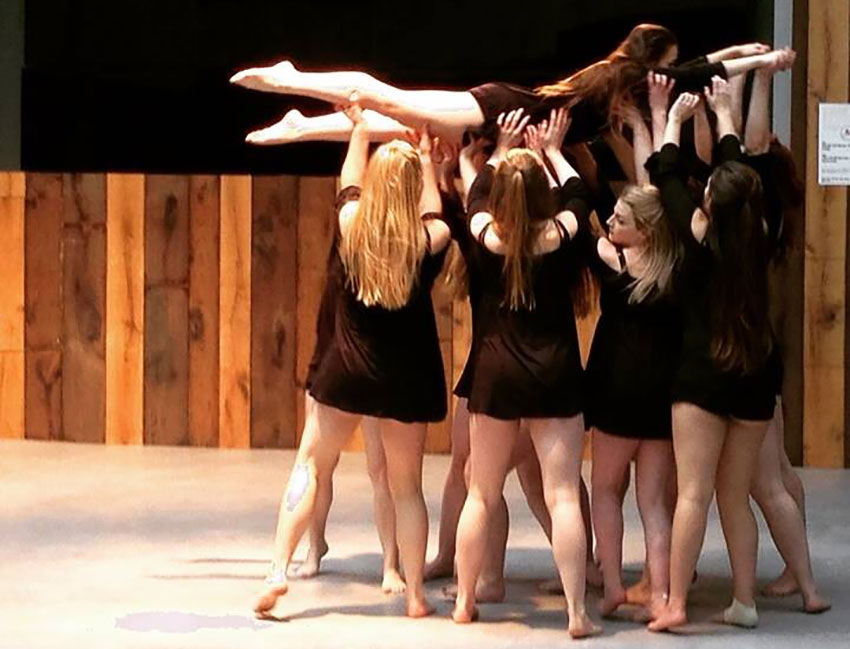 Image of dance practice with the dance society