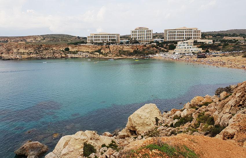Blue seas in Malta