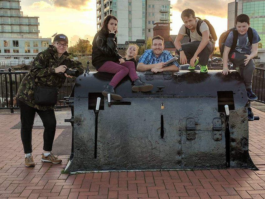 Hanging out in Cardiff bay with young people