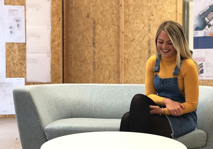 Laura in the Architectural Design studio