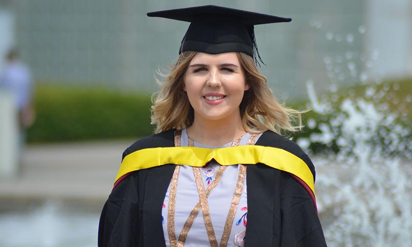 Studetn kayleigh graduation