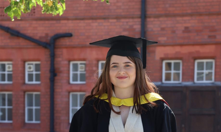 Millie Meader English and Creative Writing graduate