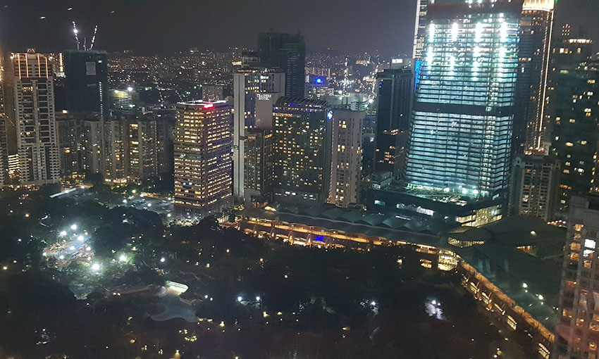 View from the Petronas Towers at night