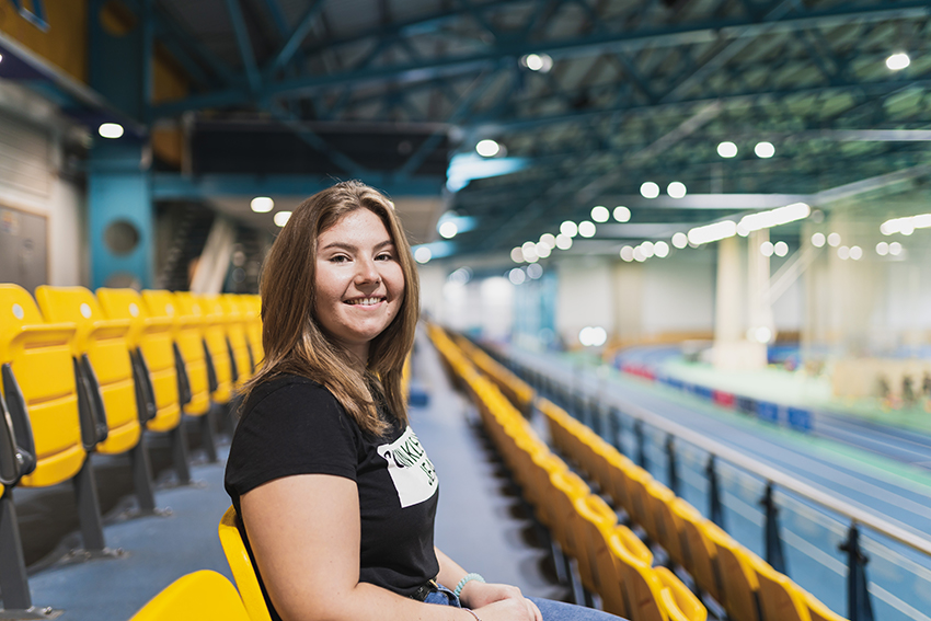Student Vicky Evans in NIAC