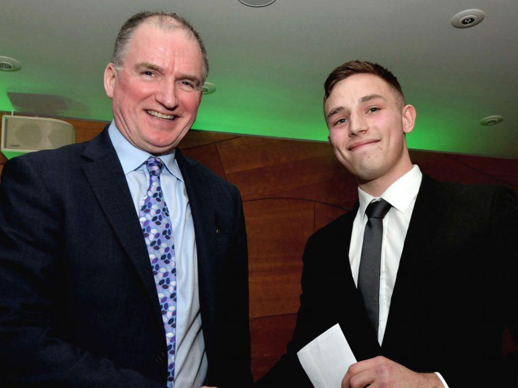 Kieran bevan awarded Stduent Bursary Award from Cardiff Business Cluib