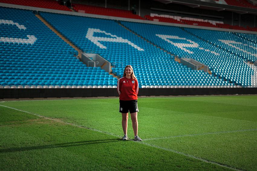 Holly Cardiff City stadium