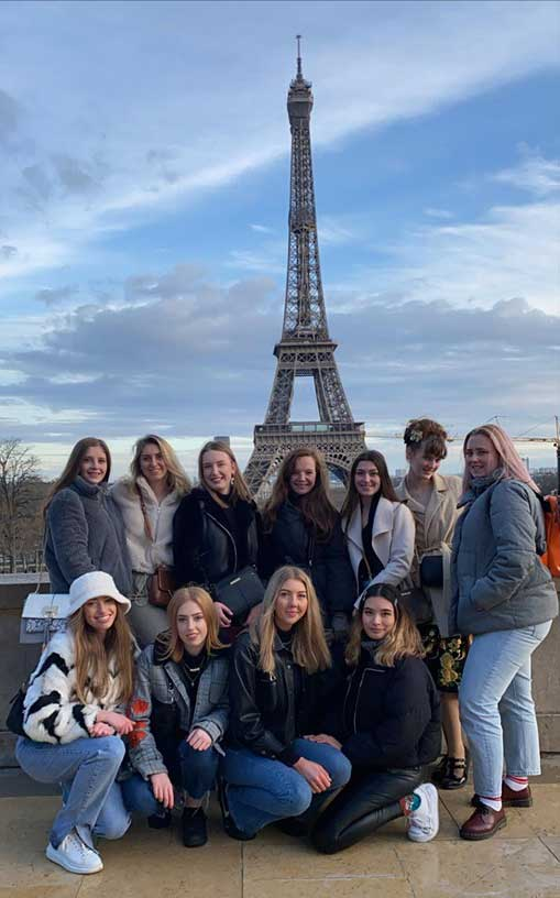 Group at Eiffel Tower