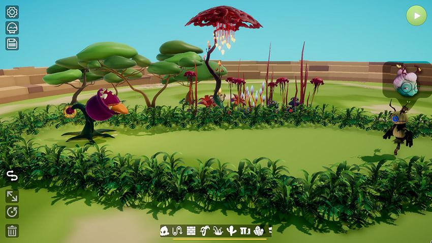 A screenshot from the Terrorarium game