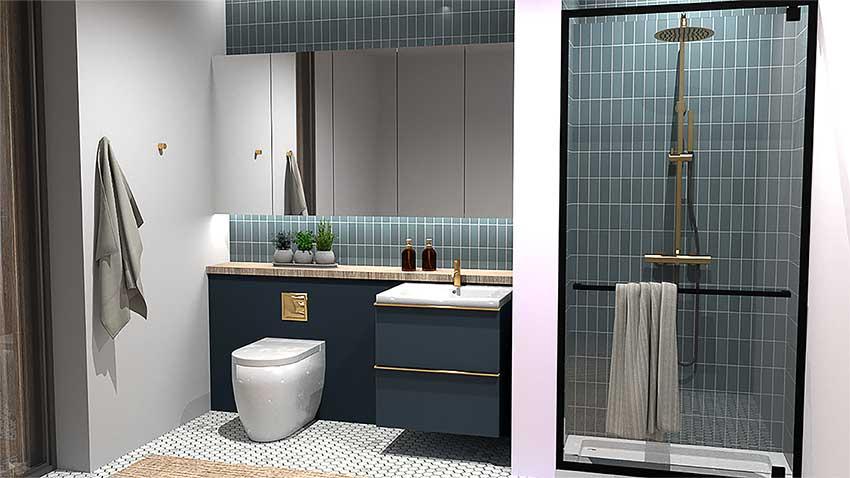 CGI bathroom render by Jarret