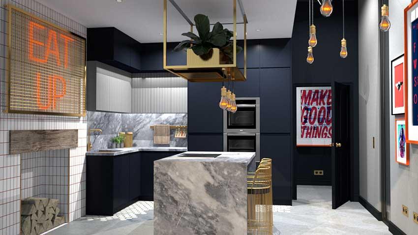 CGI kitchen render by Jarret