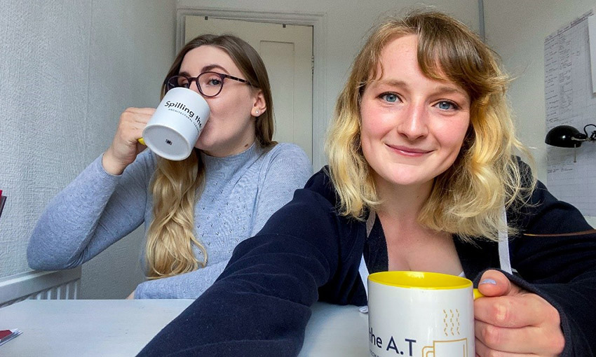 Cardiff Met Student Nika and her housemate