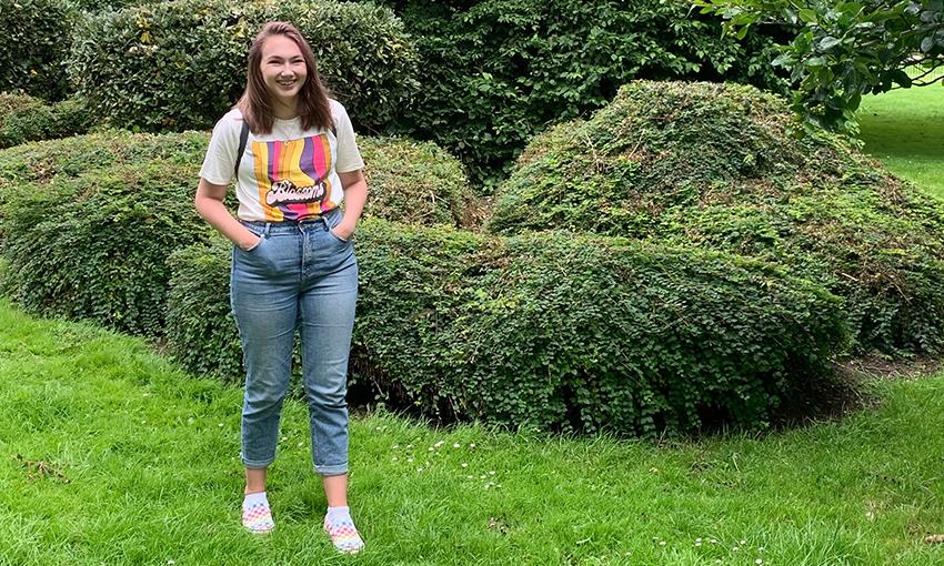 Daisy in Cardiff gardens