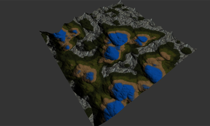 A computer generated terrain